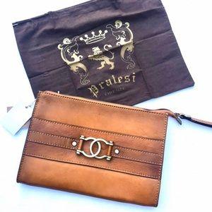 Pratesi Firenze Italian Genuine Leather Clutch Bit